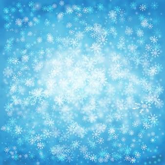 Zimowe tła z płatki śniegu