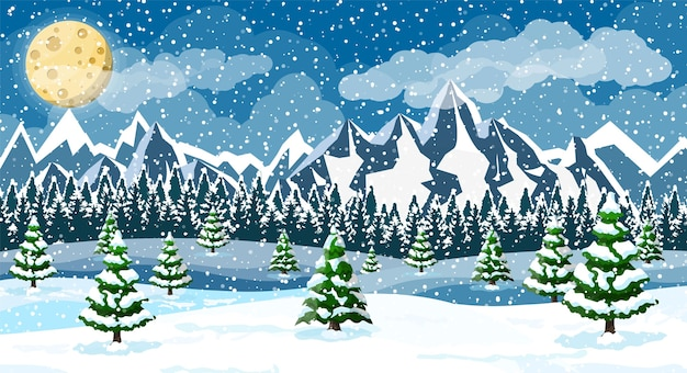 Zimowe tło boże narodzenie