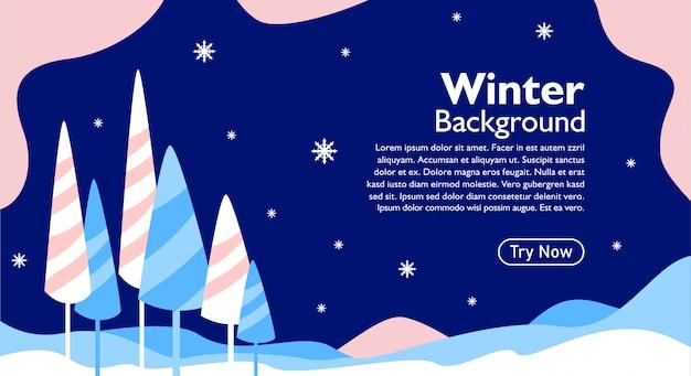 Zimowe tło dla zdarzenia i karty z pozdrowieniami