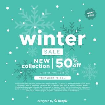 Zimowe tło sprzedaży