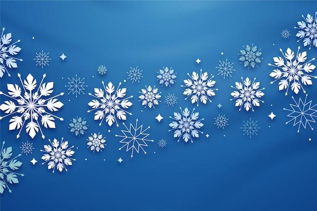 Zimowe tło w stylu papieru