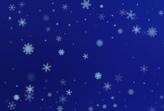 Zimowe tło z spadającymi płatkami śniegu