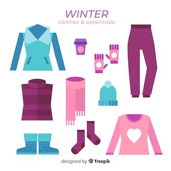 Zimowe ubrania i niezbędne artykuły