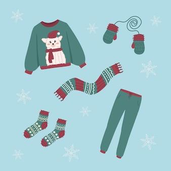 Zimowe ubrania z dzianiny