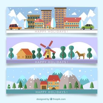 Zimowe wakacje banery