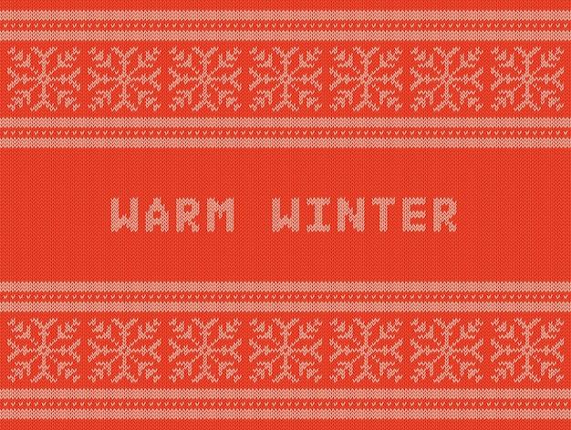 Zimowe wakacje wzór dzianiny z płatki śniegu