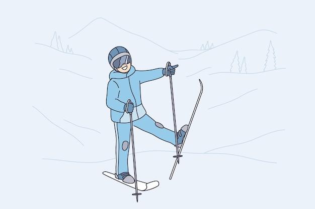 Zimowe zajęcia i koncepcja wypoczynku