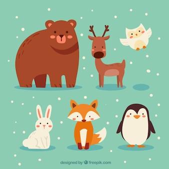 Zimowe zwierząt leśnych