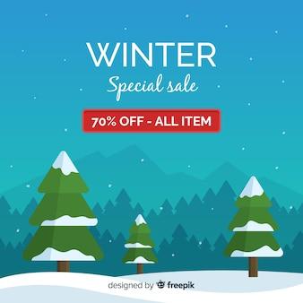 Zimowy baner specjalny sprzedaży