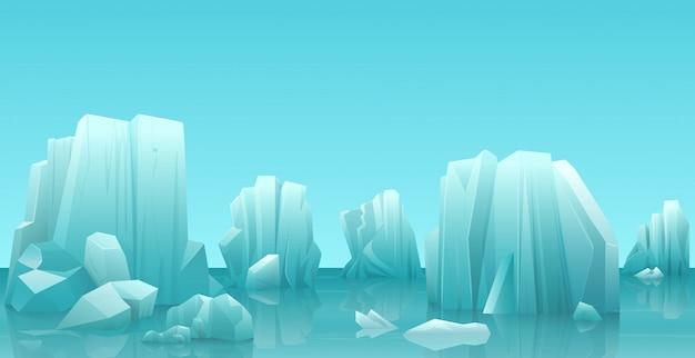 Zimowy krajobraz arktyczny lód