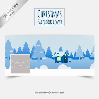 Zimowy krajobraz facebook cover