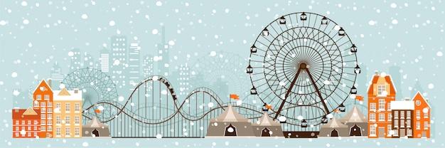 Zimowy krajobraz miejski