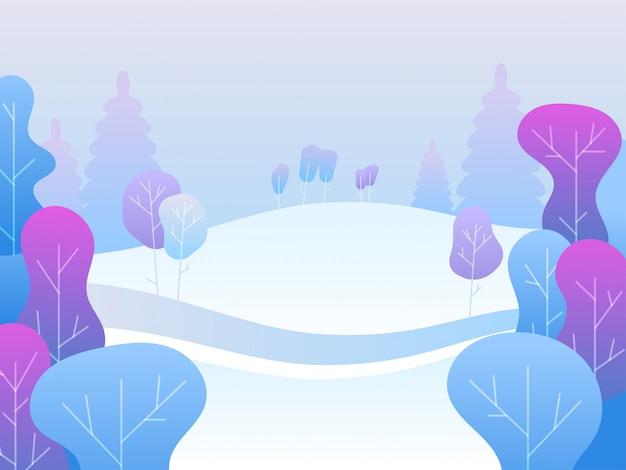 Zimowy krajobraz. parki i na zewnątrz.