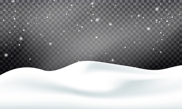 Zimowy krajobraz śniegu. śnieżny z zamieci i śniegu