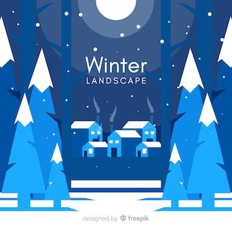 Zimowy krajobraz tło