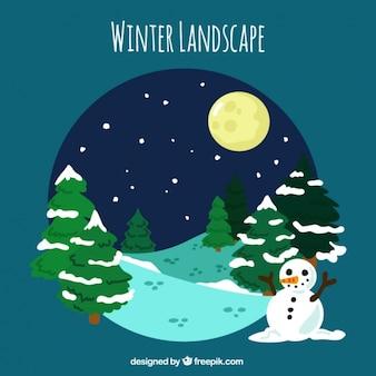 Zimowy krajobraz z ośnieżonych sosen