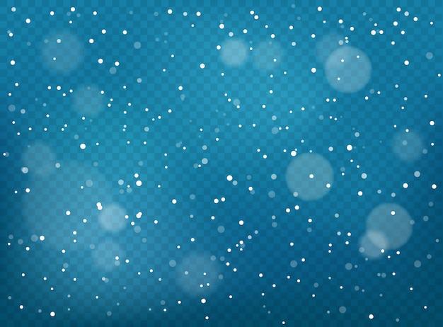 Zimowy opad śniegu tło.