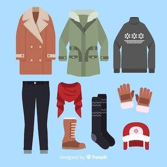Zimowy płaski strój