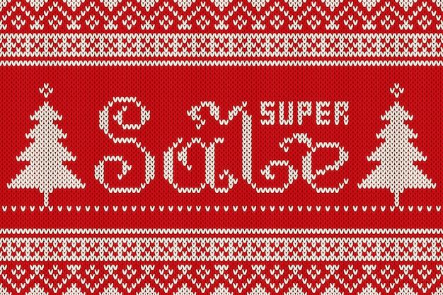 Zimowy sweter z dzianiny wzór. imitacja tekstury dzianiny wełnianej