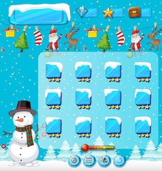 Zimowy szablon gry świąteczne
