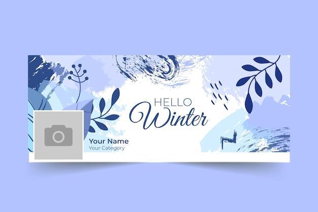 Zimowy szablon okładki na facebooku