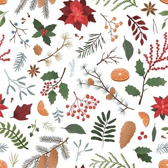 Zimowy wzór botaniczny