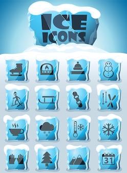 Zimowy zestaw ikon