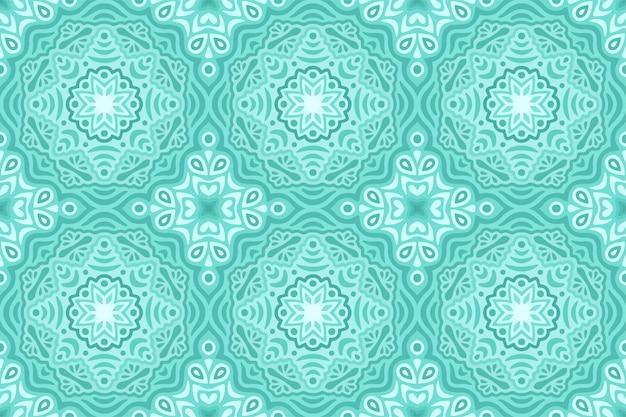 Zimy sieci tło z błękitnym bezszwowym wzorem