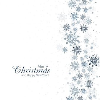Zimy tło z płatek śniegu wesoło kartka bożonarodzeniowa d