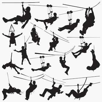 Zipline silhouettes