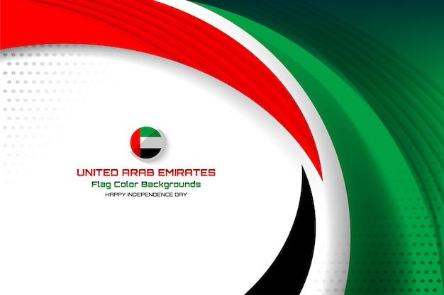 Zjednoczone emiraty arabskie flaga koncepcja tło