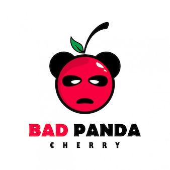 Złe logo wiśni panda