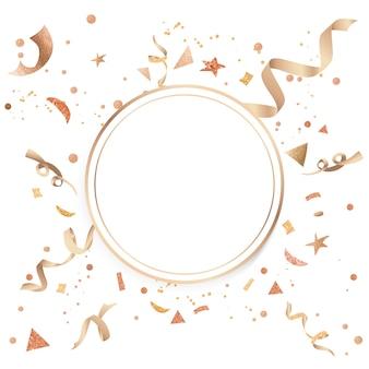 Złocisty confetti uroczysty projekt