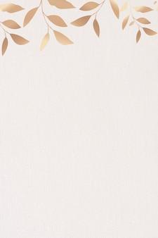 Złota błyszcząca ramka liściasta