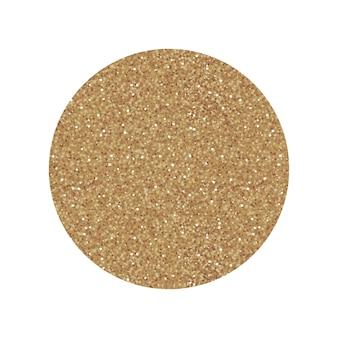 Złota etykieta okrągłe koło z teksturą złoty brokat. wektor ikona na białym tle na zakupy lub sprzedaż projektu.