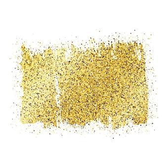 Złota farba błyszczące tło na białym tle. tło z złotymi iskierkami i efektem brokatu. puste miejsce na twój tekst. ilustracja wektorowa