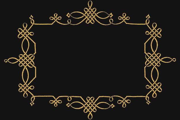 Złota filigranowa rama wiktoriańska