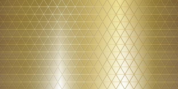 Złota geometryczna metalowa tekstura duży baner realistyczna ilustracja