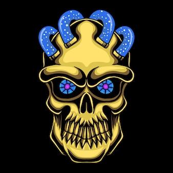 Złota głowa czaszki