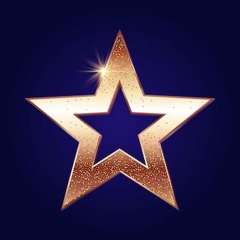 Złota gwiazda tła