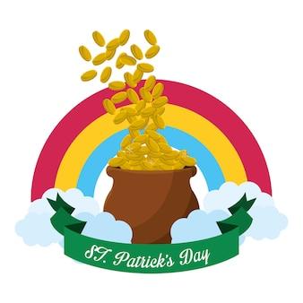Złota ikona st patricks day
