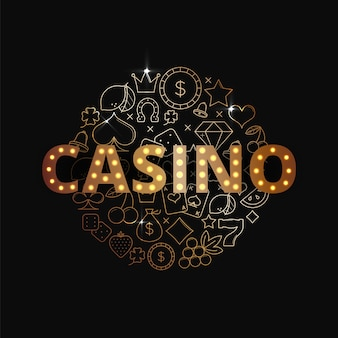 Złota ilustracja kasyna
