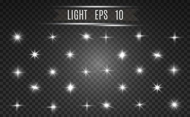 Złota jasna gwiazda. efekt świetlny jasna gwiazda. piękne światło do zilustrowania.