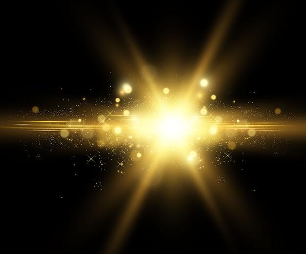 Złota jasna gwiazda.