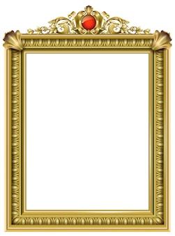 Złota klasyczna rama rokokowego baroku