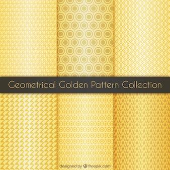 Złota kolekcja geometryczny wzór