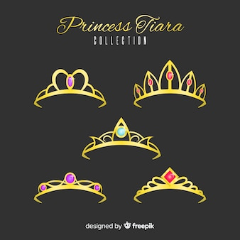 Złota kolekcja księżniczki tiara