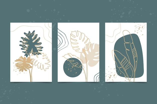 Złota Kolekcja Okładek Botanicznych Darmowych Wektorów