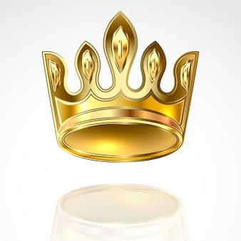 Złota korona ilustracja.
