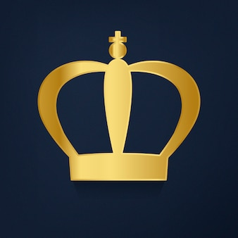 Złota korona na błękitnym tle